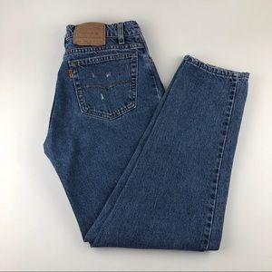 Vintage LEVI'S 550 Orange Tab Custom Jeans USA